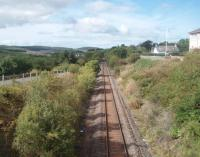 The Dalmellington line, as seen looking northwards from the overbridge that provides access to the Scottish Industrial Railway Centre. The track looks well used and in excellent condition.<br><br>[Mark Bartlett&nbsp;17/09/2010]