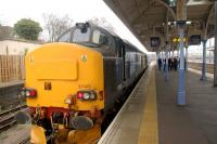 A Network Rail track recording train stands at Norwich on 24 February 2010. <br><br>[Ian Dinmore&nbsp;/02/2010]