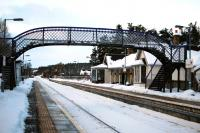 Platform view looking north at Carrbridge station on 6 December 2010.<br><br>[John Gray 06/12/2010]