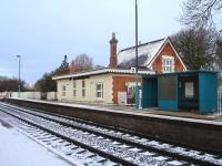 Yorton former station house, waiting room and ticket office extension on the Shrewsbury bound platform. The building is now a private residence. The original waiting room on the Crewe bound platform is still in use.  <br><br>[David Pesterfield&nbsp;30/11/2010]