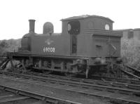 Class J72 0-6-0 no 69008 in a siding at Heaton shed in 1964.<br><br>[K A Gray&nbsp;//1964]
