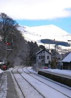 A wintry scene at Blair Atholl station on 8 December.<br><br>[John Robin&nbsp;08/12/2010]