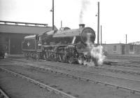 45362 looking ready for the road outside Balornock Shed on 3 April 1961.<br><br>[K A Gray&nbsp;03/04/1961]