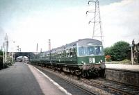 An Edinburgh - North Berwick DMU calls at Joppa on 8 August 1959. The rear end of a diesel shunter operating in Portobello yard can be seen in the background.<br><br>[A Snapper (Courtesy Bruce McCartney)&nbsp;08/08/1959]