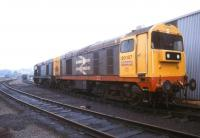 A pair of class 20 locomotives stabled at Thornton Yard in July 1991.<br><br>[Ian Dinmore&nbsp;/07/1991]