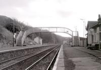 View south along the platform at Fairlie High in 1985. [See image 15048]<br><br>[Colin Miller&nbsp;//1985]