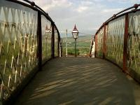 Evening view East across the footbridge at Kirkby Stephen in May 2010.<br><br>[Ken Strachan&nbsp;24/05/2010]