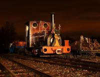 One of the West Lancashire Light Railway's tinsel-wrapped Santa Specials in action on the evening of Sunday 12 December 2010.<br> <br> <br><br>[John McIntyre&nbsp;12/12/2010]
