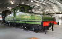 Former NER No 1 (BR class ES1 26500) in its new position within the main exhibition hall at NRM Shildon on 3 November 2010. [See image 17307] <br><br>[John Furnevel&nbsp;03/11/2010]