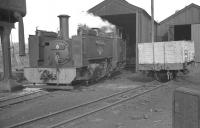 No 8 <I>Llywelyn</I> on shed at Aberystwyth (Vale of Rheidol) in August 1962.<br><br>[K A Gray&nbsp;14/08/1962]