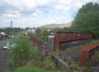 Fort William Junction signalbox, as seen from the formation of the Lochaber narrow guage railway which crossed the line at this point on the old concrete and steel bridge. <br><br>[Mark Bartlett&nbsp;18/05/2010]