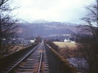The viaduct over the River Dochart looking towards Killin in December 1966.<br><br>[(c) 2016 Google and (c) 2016 DigitalGlobe&nbsp;/12/1966]