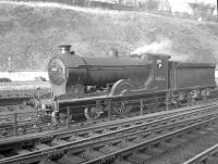 Scene at Hawick on 4 November 1957 with Scott class 4-4-0 no 62422 <I>Caleb Balderstone</I> involved in some shunting work in the yard.<br><br>[A Snapper (Courtesy Bruce McCartney)&nbsp;04/11/1957]