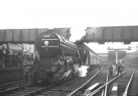 The BR Scottish Region <I>Last V2</I> excursion from Edinburgh, photographed at Aberdeen station on 5 November 1966. Locomotive is V2 2-6-2 no 60836 of 62B Dundee Tay Bridge shed.<br><br>[K A Gray&nbsp;05/11/1966]