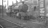 7810 <I>Draycott Manor</I> stands in the yard alongside Oswestry shed on 2 October 1961.<br><br>[K A Gray&nbsp;02/10/1961]
