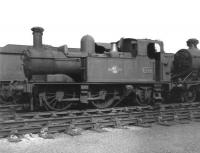 Collett 1400 class 1P 0-4-2T no 1445 stored on 81E Didcot Shed on 9 June 1963. The locomotive was eventually cut up at Birds, Risca, in April 1965.<br><br>[David Pesterfield&nbsp;09/06/1963]