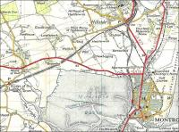 The Montrose area in 1959 as shown on OS 7th Series Sheet 30.  How many rail travellers over the years have been disorientated by Montrose Basin, making it look as if the sea is on the wrong side?  The rail system was still intact, though Montrose Caledonian station is incorrectly shown as open to passengers when it had closed 25 years earlier!  Kinnaber Junction, the effective winning post of the 1895 rail races to Aberdeen, is the one next to the Mental Hospital. That bane of the main line, the single track section between Montrose South and Usan (so it was built, so it remains) is laid bare.  Crown Copyright 1959.<br> <br><br>[David Panton&nbsp;//1959]