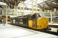 Class 37 no 37408 <I>Loch Rannoch</I> stands at Liverpool Street in July 1997.<br><br>[Ian Dinmore&nbsp;/07/1997]