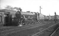 <I>A rose among thorns</I>. Jubilee no 45562 <I>Alberta</I> stands on Kingmoor shed on 7 October 1967. The locomotive had arrived at Carlisle earlier in the day with the Jubilee Railway Society <I>South Yorkshireman No 7</I> from Bradford Exchange, whch ran via Manchester Victoria and the WCML. Later 45562 took the special back to Bradford via the S&C and Leeds.<br><br>[K A Gray&nbsp;07/10/1967]