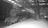 A3 Pacific no 60063 <I>Isinglass</I> awaiting its departure time at Waverley on 18 May 1964 prior to taking out the 10.10am to London Kings Cross.<br><br>[K A Gray&nbsp;18/05/1964]