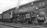 Crab 2-6-0 no 42731 stands in the yard of the now demolished steam shed at Bury (26D). The building behind the locomotive is the electric car shed (now the repair shops of Ian Riley Engineering and the East Lancashire Railway).<br><br>[K A Gray&nbsp;//]