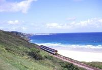 DMU near Carbis Bay on the St Ives branch in the summer of 1999.<br><br>[Ian Dinmore&nbsp;/06/1999]