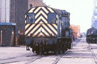A class 08 shunting Newport Docks in 1986. <br><br>[Ian Dinmore&nbsp;//1986]