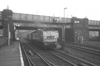 D1968 about to leave platform 7 at Carlisle on 23 December 1968 with the 1pm for Edinburgh Waverley. <br><br>[K A Gray&nbsp;23/12/1968]