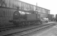 Reid N15 0-6-2T no 69211 standing alongside the 1954 shed at Bathgate (64F) on 18 November 1963. <br><br>[K A Gray&nbsp;18/11/1963]