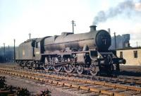 Jubilee 4-6-0 no 45635 <I>Tobago</I> in the yard at Polmadie in September 1959.<br><br>[A Snapper (Courtesy Bruce McCartney)&nbsp;26/09/1959]