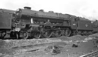 Royal Scot no 46125 <I>3rd Carabinier</I> on Longsight shed, Manchester, thought to have been photographed in 1959.<br><br>[K A Gray&nbsp;//1959]