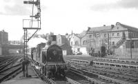 CR 123 arriving at Edinburgh Princes Street station on 19 April 1965 with <I>Scottish Rambler no 4 (Train B)</I> from Glasgow Central.  <br><br>[K A Gray&nbsp;19/04/1965]