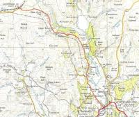This extract from the OS One Inch map of 1955 for the Kirkcudbright area is almost railway-free.� Bear with me, the point is to demonstrate the distance between Gatehouse of Fleet station and the village.� There are six-and-a-half twisty miles between the station and Fleet Street, Gatehouse - a British record?� The link with the station was enough to give this road a classification which it retains to this day, though even B roads are supposed to go somewhere.� Crown copyright 1955.<br> <br><br>[David Panton&nbsp;//1955]