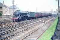 A3 no 60041 <I>Salmon Trout</I> about to take the Forth Bridge route at Saughton Junction in June 1958.<br><br>[A Snapper (Courtesy Bruce McCartney)&nbsp;23/06/1958]