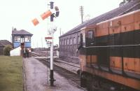Waiting for the Tuam token at Athenry on the Dublin - Galway line in July 1988.<br><br>[Ian Dinmore&nbsp;/07/1988]