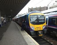 185 109 at Haymarket platform 3 on 8 February with a service from Manchester Airport.<br><br>[Brian Forbes&nbsp;08/02/2011]