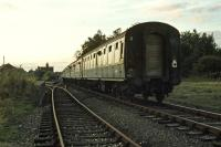 <I>That's yer lot!</I> The last passenger train to call at Lenwade (Hertfordshire Railtours 'Anglian Explorer') prepares to leave the station and head off into the sunset on 29th September 1979.<br><br>[Mark Dufton&nbsp;29/09/1979]