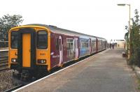 A Wessex Trains 150 stands at Dawlish Warren in the summer of 2005 with a service to Exmouth.<br><br>[Ian Dinmore&nbsp;//2005]