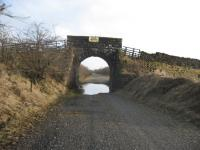 An old road over rail bridge near Cambusbeg, east of Callander, photographed in February 2011. View looks east towards Doune/Dunblane.<br><br>[Michael Gibb&nbsp;12/02/2011]