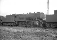 WD Austerity 2-8-0 no 90072 stands in the shed yard at Thornaby in May 1960.<br><br>[K A Gray&nbsp;29/05/1960]