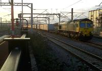 Freightliner 66516 enduring an hour's wait at Rugby on 11 February 2011.<br><br>[Ken Strachan&nbsp;11/02/2011]