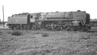 Britannia Pacific no 70034 <I>Thomas Hardy</I> on March shed in May 1962<br><br>[K A Gray&nbsp;06/05/1962]