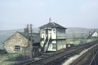 Signal box at Dent, photographed in June 1978 from a passing train.<br><br>[Ian Dinmore 06/06/1978]