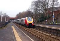 A Virgin Voyager heads west through Eccles on 19 February 2011.<br> <br><br>[John McIntyre&nbsp;19/02/2011]