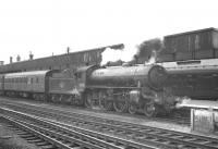 B1 4-6-0 no 61010 <I>Wildebeeste</I> stands at Doncaster in July 1963 with the 12.12pm train to Cleethorpes.<br><br>[K A Gray&nbsp;06/07/1963]