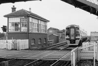 158720 passes�Barry West signal box in 1991.<br> <br><br>[Bill Roberton&nbsp;//1991]