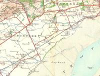 The eastern end of the Carse of Gowrie in 1908 as seen on an OS Third Edition One Inch map.� The minor line running between Inchture station and the village was the horse-drawn Inchture Tramway which was to last only another 8 years.� The fact that this was ever thought a viable business proposition shows the very different economics of the Victorian era.� The stations have gone, but apart from the attractive villages of Inchture and Longforgan being bypassed by what is now the A90 dual carriageway nothing much has changed.� Dundee has still not encroached, with Kingoodie still detached - but only just - from the city.<br><br>[David Panton&nbsp;//1908]