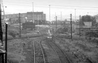 A murky view of Dalkeith Colliery in the early 1970s, seen looking west from the road overbridge near the former Smeaton Station. [See image 32929]<br> <br><br>[Bill Roberton&nbsp;//]