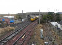 31465 on the rear of a Network Rail test train passing south through Barassie on 23 February 2011.<br><br>[Ken Browne&nbsp;23/02/2011]