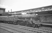 Rebuilt <I>Patriot</I> no 45526 <I>Morecambe and Heysham</I> about to take the 10.35am Glasgow Central - Blackpool out of Carlisle platform 4 on 13 July 1963.<br><br>[K A Gray&nbsp;13/07/1963]
